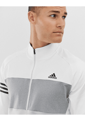 adidas Golf Competition half zip sweat in white