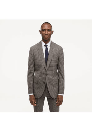 Ludlow Essential slim-fit suit jacket in check stretch four-season wool