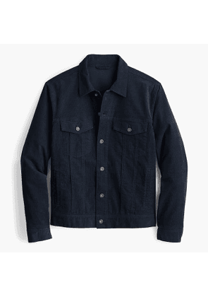 Trucker jacket in stretch corduroy