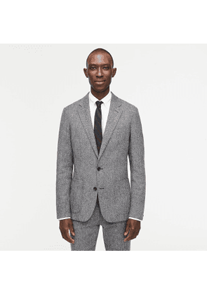 Ludlow Slim-fit unstructured suit jacket in English wool herringbone