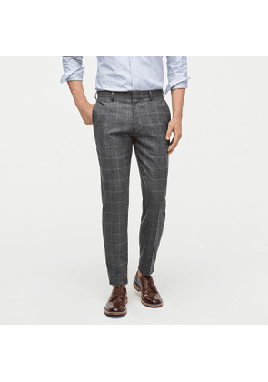 Ludlow Slim-fit unstructured suit pant in English windowpane wool