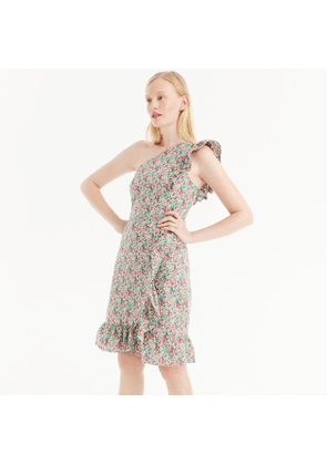 Asymmetrical ruffle dress in Liberty® Emma & Georgina floral