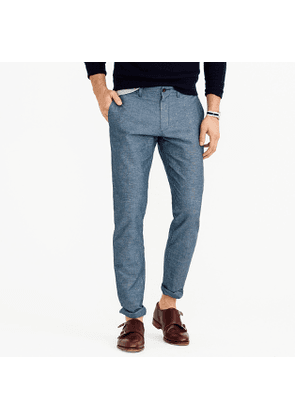 Irish linen-cotton chino in 484 fit