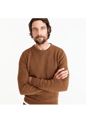 Wallace & Barnes cotton sweater in brown vertical stitch