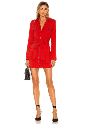 L'Academie The Patreace Mini Dress in Red. Size L,M,S,XL,XS.