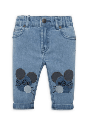 Mouse Patch Denim Jeans 3 Months-3 Years