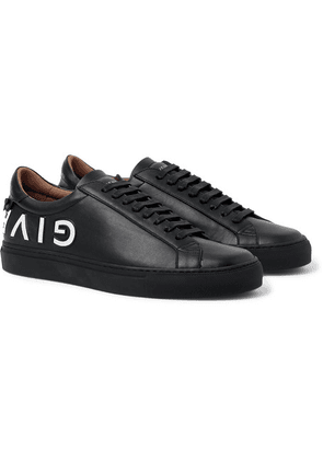 Givenchy - Urban Street Logo-embossed Leather Sneakers - Black