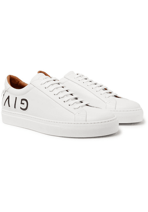 Givenchy - Urban Street Logo-embossed Leather Sneakers - White