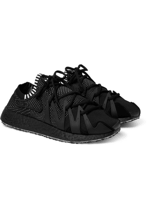 Y-3 - Y-3 Raito Racer Rubber And Suede-trimmed Primeknit Sneakers - Black