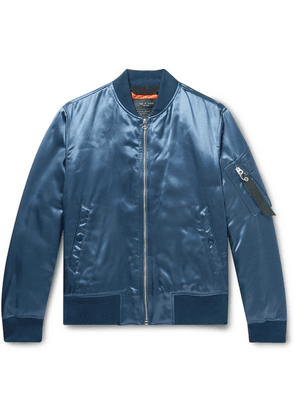 rag & bone - Manston Satin Bomber Jacket - Navy