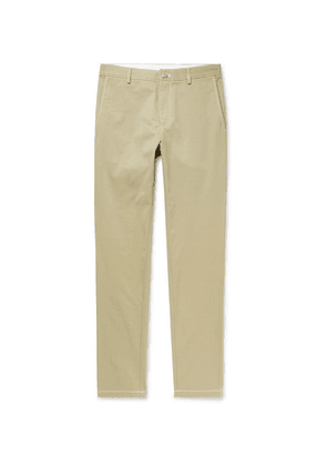 Burberry - Slim-fit Cotton-twill Trousers - Neutral