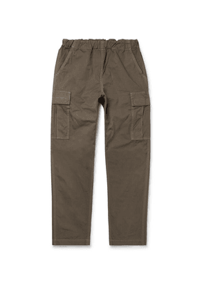 OrSlow - Tapered Cotton-canvas Cargo Trousers - Green
