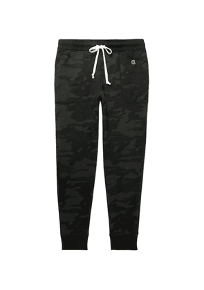 Todd Snyder + Champion - Slim-fit Tapered Camouflage-print Loopback Cotton-jersey Sweatpants - Black