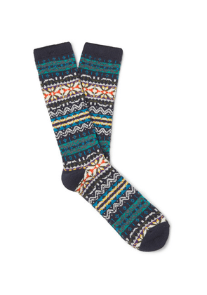 Anonymous Ism - Fair Isle Cotton-blend Socks - Multi