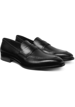 Dunhill - Leather Penny Loafers - Black