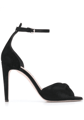 Red Valentino RED(V) twisted strap sandals - Black