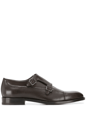 Canali double-strap monk shoes - Brown