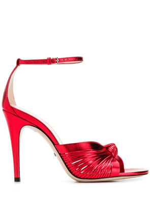Gucci caged stiletto sandals - 6401 Red Flame