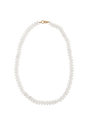 Irene Neuwirth 18kt yellow gold bead necklace - White