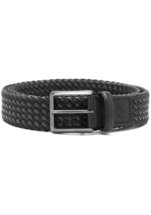 Canali woven belt - 110 Black Green