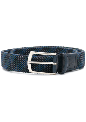 Canali woven checked belt - Blue