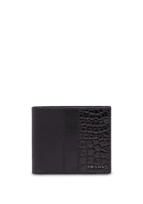Prada crocodile embossed wallet - Black