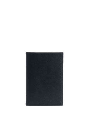 Karl Lagerfeld logo embossed passport holder - Black