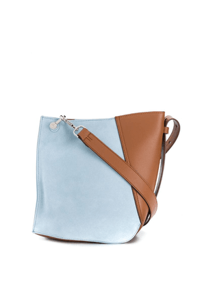 Lanvin small two-toned Hook bag - Blue