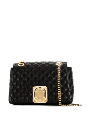 Balmain quilted leather cross-body bag - Black