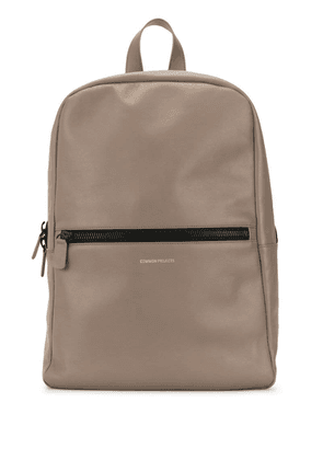 Common Projects logo embossed backpack - Brown