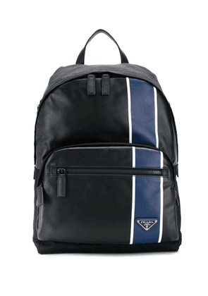 Prada contrasting stripe backpack - Black