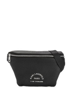 Karl Lagerfeld logo belt bag - Black