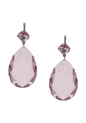 Alexander McQueen teardrop crystal pendant earrings - Pink