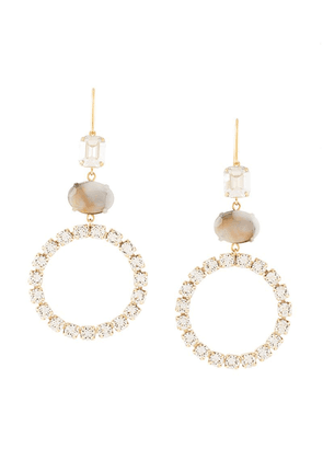 Isabel Marant crystal embellished drop earrings - Gold