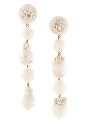 Rebecca De Ravenel geometric drop earrings - White