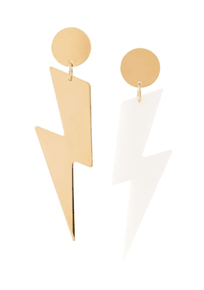 Isabel Marant lightning bolt earrings - Gold