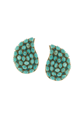 Rebecca De Ravenel Tear pendant earrings - Green