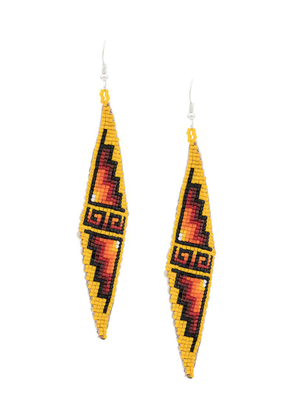 Jessie Western beaded earrings - Yellow