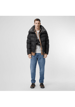Burberry Detachable Sleeve Hooded Puffer Jacket, Size: M, Black