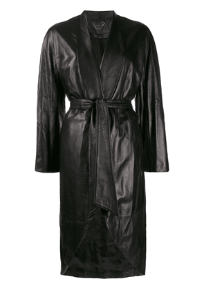 Federica Tosi belted leather jacket - Black
