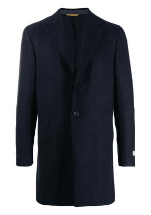 Canali single-breasted fitted coat - Blue
