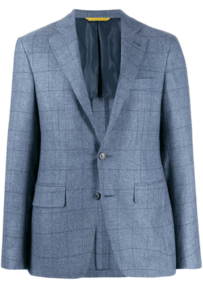 Canali slim-fit check blazer - Blue