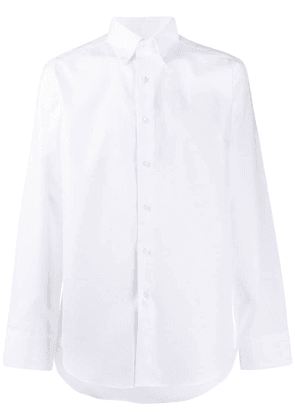Canali long-sleeve fitted shirt - White