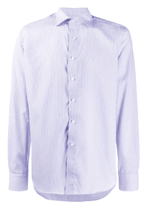 Canali striped long-sleeve shirt - Blue