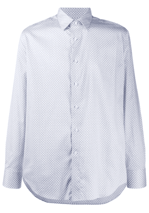 Canali embroidered fitted shirt - White