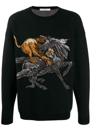 Givenchy animal motif knitted sweater - Black
