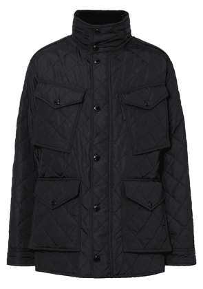 Burberry Packaway Hood Quilted Thermoregulated Field Jacket - Black