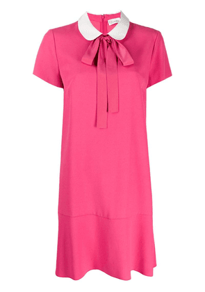 Red Valentino pussy-bow dress - Pink