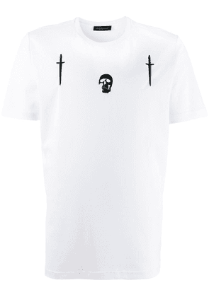 Diesel Black Gold Skull embroidered T-shirt - White