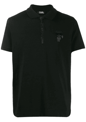 Karl Lagerfeld Karl logo polo shirt - Black